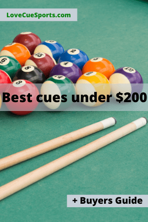 best cues for under $200