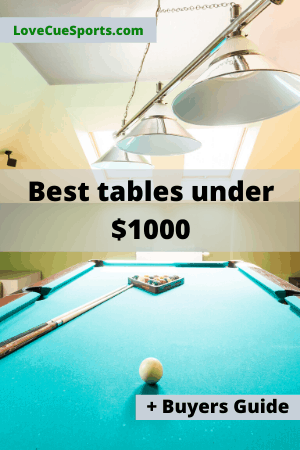 best pool table under $1000