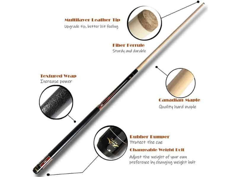 Taiba pool cue review specs stick