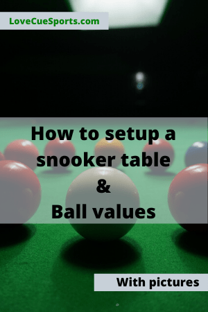 snooker table setup and snooker ball values