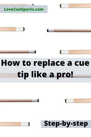 how to replace a cue tip